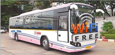 Free wifi, Hyderabad, Airtel, City buses